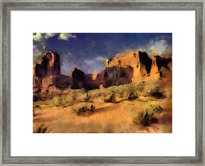 Arches National Monument-utah Framed Print by Elaine Frink