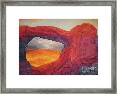 Arches Sunfire Framed Print by Vikki Wicks