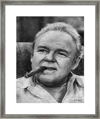 Archie Bunker Framed Print by Elizabeth Coats