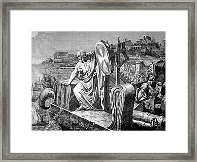 Archimedes Heat Ray, Siege Of Syracuse Framed Print by Science Source