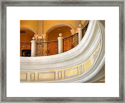 Architectural Curves Framed Print