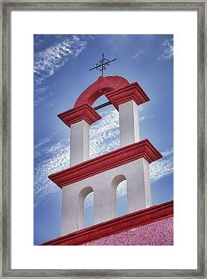 Architectural Detail And Iron Cross Framed Print by Bryan Mullennix