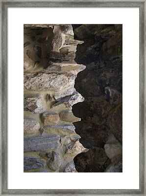 Architectural Detail Of Stone Work Framed Print by Todd Gipstein