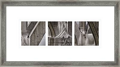 Architectural Detail Triptych Framed Print by Carol Leigh