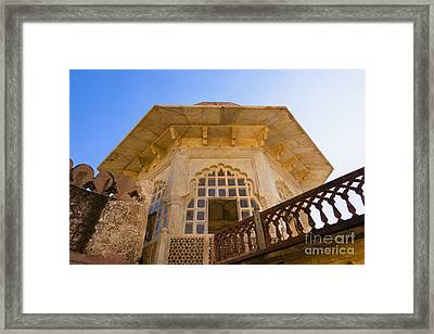 Architectural Details Of The Amber Fort Framed Print by Inti St. Clair