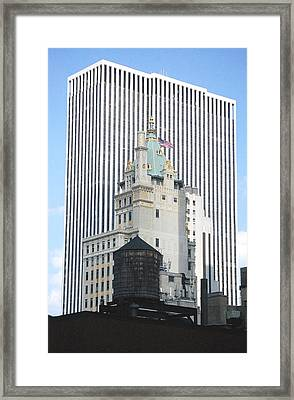 Framed Print featuring the photograph Architectural History-nyc by Mary McAvoy