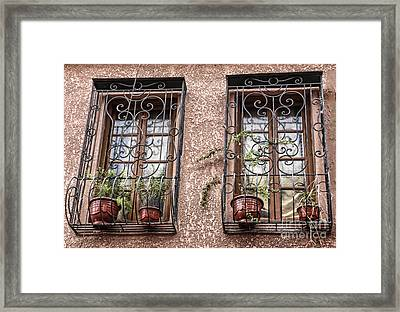 Architecture I Windows Framed Print by Chuck Kuhn