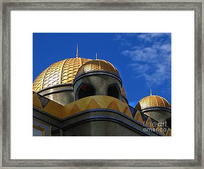 Architecture In Middle Eastern Style Framed Print by Yali Shi