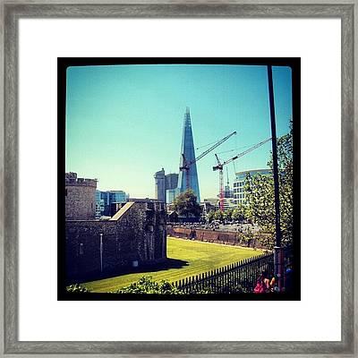 #architecture #london #uk #sky Framed Print