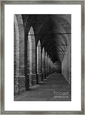 Archs At Lagenzia Pollenzo Framed Print by Malu Couttolenc