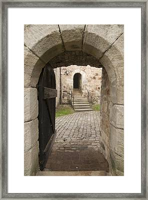 Archway - Entrance To Historic Town Framed Print