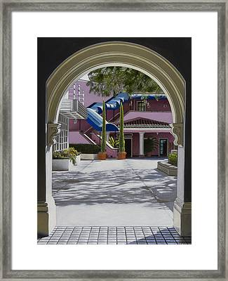 Archway In Sunlight Framed Print by Tony Chimento