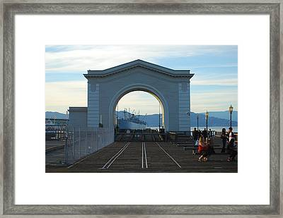 Archway Pier 39 San Francisco Framed Print by Richard Adams