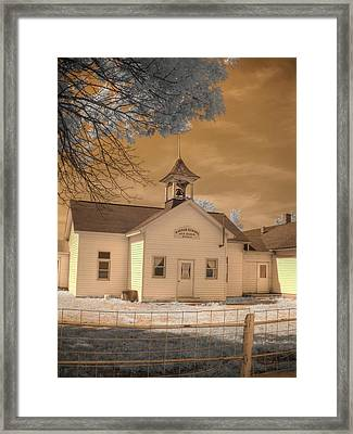 Arcola Illinois School Framed Print