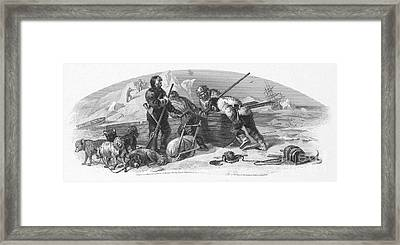 Arctic Exploration, 1856 Framed Print by Granger