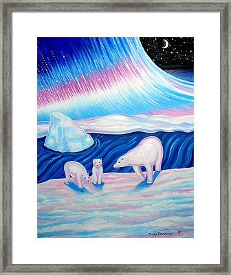 Arctic Nights Framed Print by Tracy Dennison