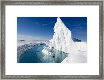 Arctic Sea Ice Melting, Canada Framed Print by Louise Murray