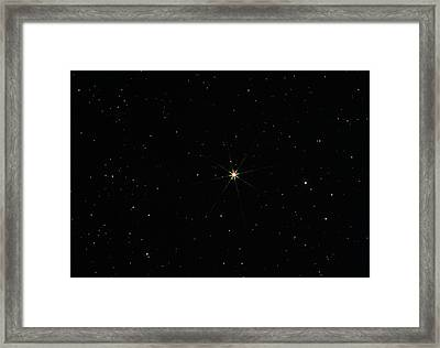 Arcturus In The Constellation Of Bootes Framed Print by John Sanford