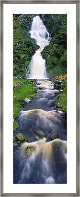 Ardara, Co Donegal, Ireland Waterfall Framed Print by The Irish Image Collection