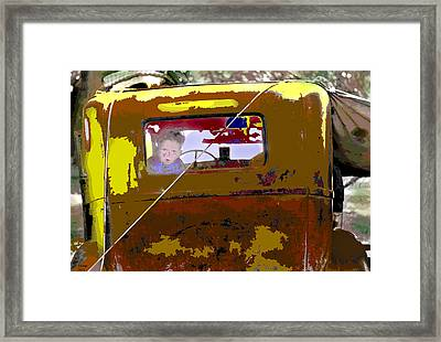 Framed Print featuring the mixed media Are We There Yet by Charles Shoup