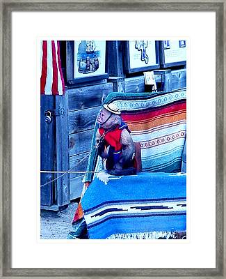 Are You Ready Yet Framed Print by Frank Wickham