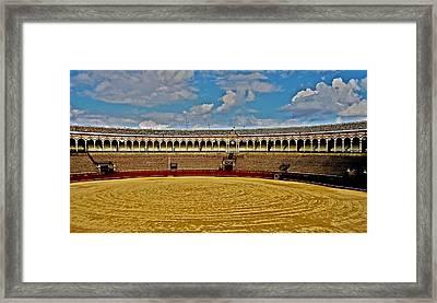 Arena De Toros - Sevilla Framed Print by Juergen Weiss