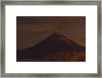 Arenal By Night Framed Print