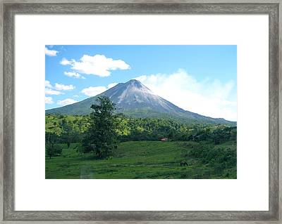 Framed Print featuring the photograph Arenal by Eric Tressler
