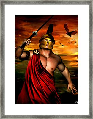 Ares Framed Print by Lourry Legarde