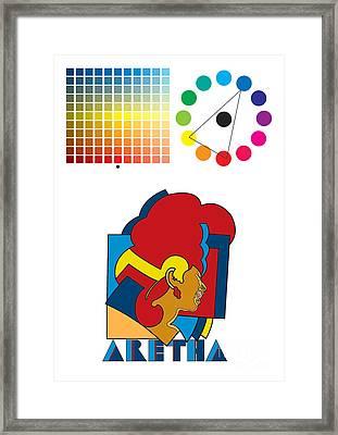 Aretha Franklin No.01 Framed Print by Caio Caldas