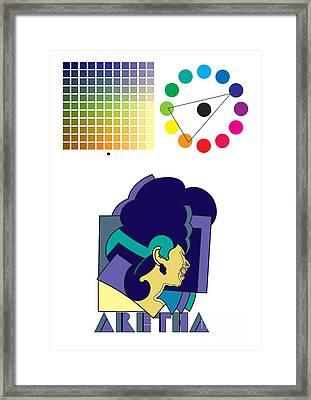 Aretha Franklin No.02 Framed Print by Caio Caldas