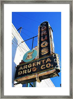 Argenta Drug Co. Framed Print by Todd Sherlock