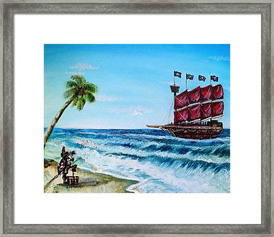 Argh 'bout Time Mateys Framed Print by Shana Rowe Jackson