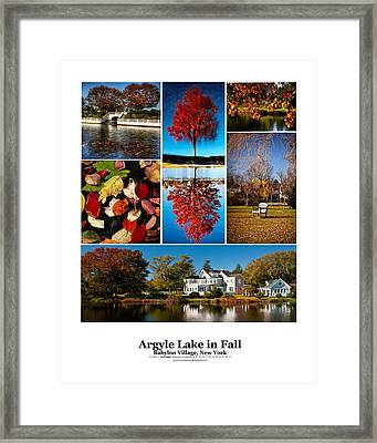 Argyle Lake Fall Poster Framed Print by Vicki Jauron