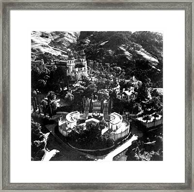 Arial View Of Hearst Castle, San Framed Print by Everett