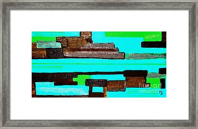 Ariel View On Venice Canals Framed Print
