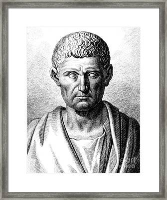 Aristotle, Ancient Greek Polymath Framed Print by Science Source
