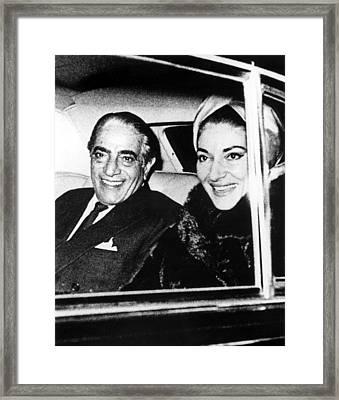 Aristotle Onassis And Maria Callas Framed Print