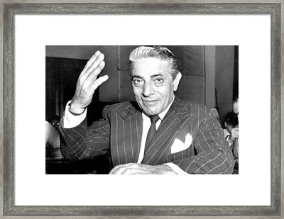 Aristotle Onassis At A Congressional Framed Print by Everett