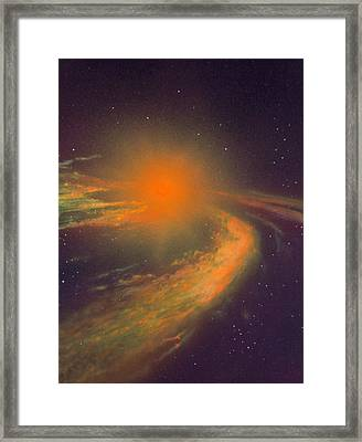 Aritst's Impressions Of Formation Of A New Star Framed Print