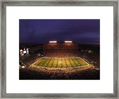 Arizona Arizona Stadium Under The Lights Framed Print by J and L Photography