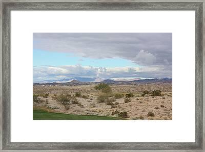 Arizona Desert View Framed Print