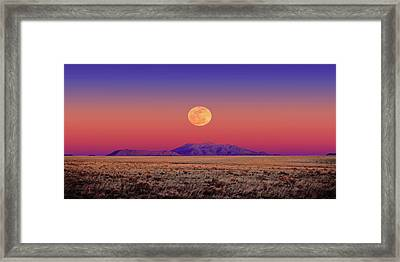 Arizona Full Moon Framed Print