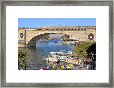 Arizona Import - Iconic London Bridge Framed Print