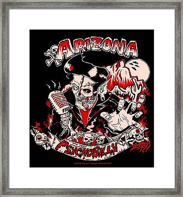 Arizona Psychobilly Framed Print by Zombilly Ray