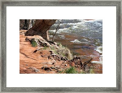 Framed Print featuring the photograph Arizona Red Water by Debbie Hart