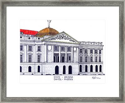 Arizona State Capitol Framed Print by Frederic Kohli