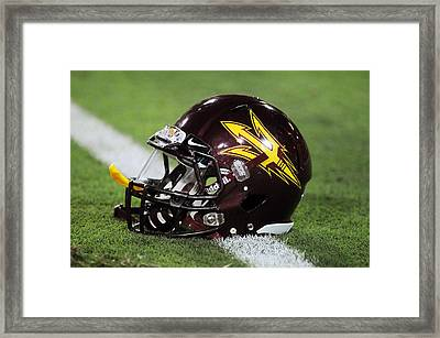 Arizona State Helmet Framed Print by Getty Images
