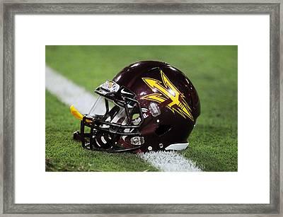 Arizona State Helmet Framed Print