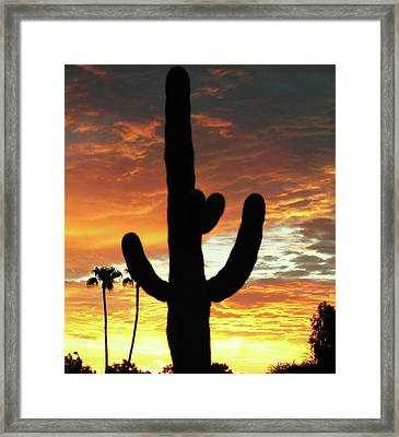 Arizona Sunrise 01 Framed Print